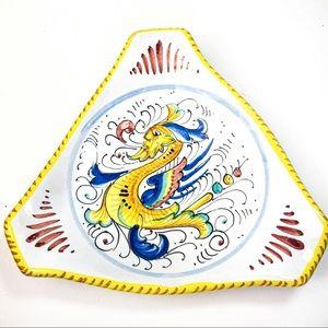 RaphaelIesco Deruta Italian Hand Painted Dish